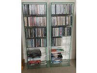 CD Racks x2, Glass, £25 Each (Were £100 Each new)