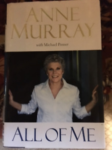 "Anne Murray hardcover book with dustjacket - ""All of Me"""