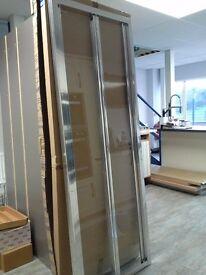 Shower Screen - Aquaglass + Drift Bifold Shower Screen BRAND NEW