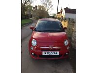 Fiat 500 S Petrol, Red with black interior/red trim - great sporty model - looks lovely. Aircon etc