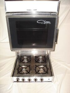 Camper Stove with overhead oven and range hood - Yorkton