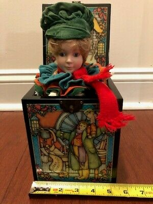 RARE Tiny Tim,Dickens A Christmas Carol,Enesco Music Jack in The Box,LE #1783 ()