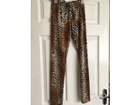 Leopard print leggings size 12/14 - unworn