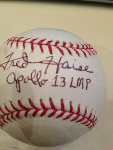 "Fred Haise Apollo 13 Astronaut ""Houston we have a problem"" signed baseball JSA"