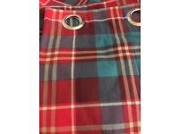 NEXT tartan curtains - 10 panels