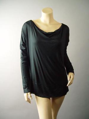One-shoulder Knit Top (Boat Neck Off One Shoulder Basic Black Jersey Knit Top 283 mv Shirt 1XL 2XL 3XL)