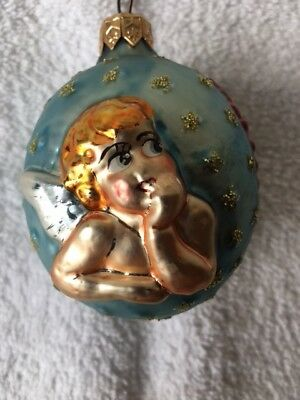 Christopher Radko Rare Cherub Angel Ornament 1993-1994