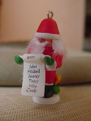 Tiny SANTA CLAUS NUTCRACKER Guild #7 Miniature 2000  HALLMARK CHRISTMAS ORNAMENT