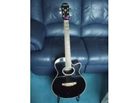 ARIA ELECTRIC ACOUSTIC GUITAR, With carry Case.