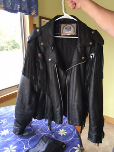 Indian Chiefs head Leather Motorcycle Jacket