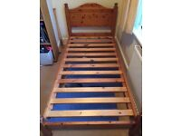 Wooden Single Bed Frame in good condition- purchased from Dreams