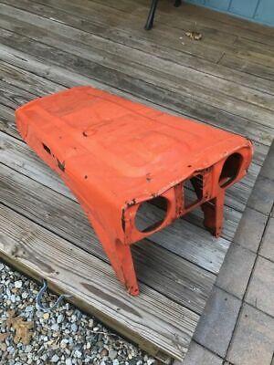 1985 Kubota Tractor B 7100 Orange Front Hood-damaged But Usable