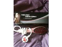 pink hair brush straighteners