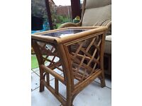 Conservatory Furniture set 2 seater sofa, 2 chairs and a small table. Very comfy!
