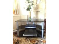 Glass TV stand - excellent condition
