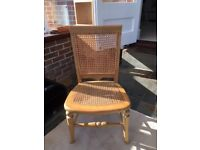 Antique cane nursing chair