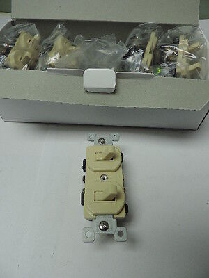Wholesale Lot Of 200 Ivory Double Wall Light Switch Duplex Toggle 15a
