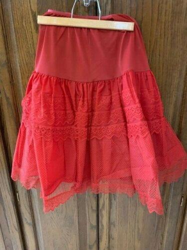 True Vintage Red Slip Petty coat Size 14 Cremlin