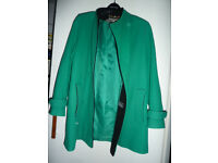Wool and cashmere three-quarter length coat size 10