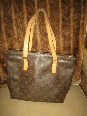 Beautiful Louis Vuitton Cabas Piano Brown LV Monogram Shoulder Bag Purse