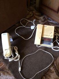 Dialatron Telephone Clock Radio AND Binatone telephone- 2 items- £5 the pair