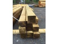 4x4 Fence Posts 1.8m - 2.1m - 2.4m - 3m Available