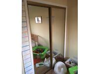 Double wardrobe sliding mirror doors (free)