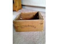 Rustic kindling wood box