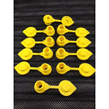 10 - Yellow Replacement Gas Can Fuel Jug Vent Cap Plug Eagle Chilton Spouts