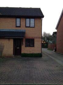 TO RENT in Wymondham Modern 2 Bedroom Semi Detached