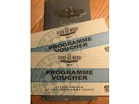 GOODWOOD REVIVAL 2017 PROGRAMME VOUCHERS