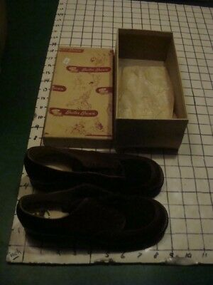 Vintage Original UNUSED Girl's BUSTER BROWN SHOES -- BR OX 1 1/2