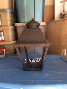 Metal  light post  top