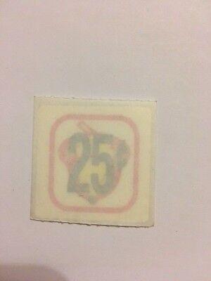 Original Oak Acorn 25 Cent .25 Price Decal Sticker Gumball Bulk Vending Machine