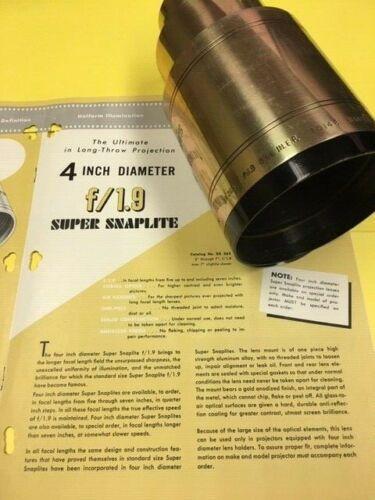 "70mm/35mm Kollmorgen 4"" Diameter 5 1/2"" Projection Lens"