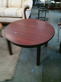 Round Mahogny Coffee Table