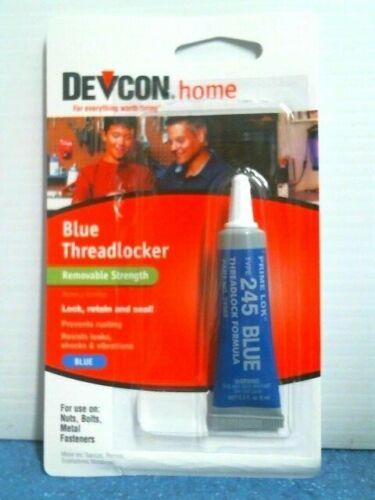 Devcon Home 24345 Blue Threadlocker Removable Strength Lock Retain & Seal, FS