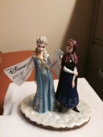 Disneyland Paris Frozen Anna and Elsa Snow Winter Figure NEW In Box