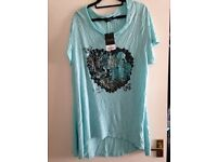 Turquoise T-Shirt by Yours * Size 22/24 * New with Tags * £7