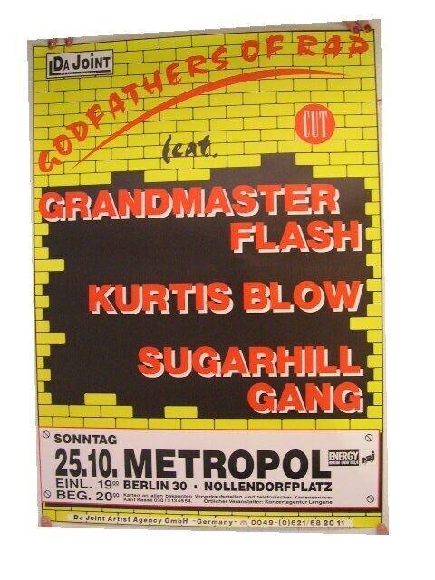 Grandmaster Flash Kurtis Blow Poster Concert