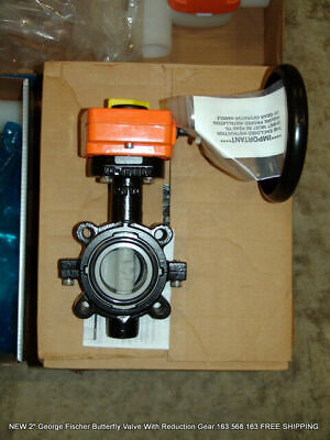 2 George Fischer Butterfly Valve With Reduction Gear 163 568 163 Free Shipping