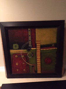 "50"" Contemporary Framed Giclee"