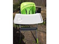 Chicco Jazzy Highchair (Light Green)