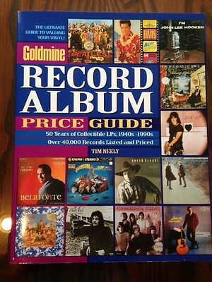 Goldmine Record Album Price Guide by Tim Neely, 1999 PB