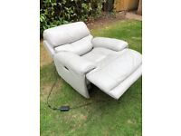 Leather Powered reclining armchair
