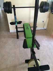 Weight Bench with Bar & Weights