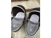 I Candy Peach double pram for sale