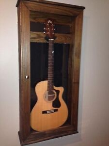 Solid Hardwood Guitar Display Cases and Stands