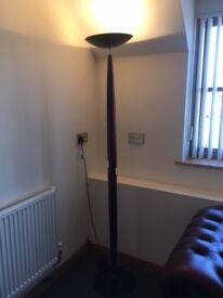 Walnut and Black Lamp with adjustable dimmer
