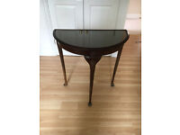 Hall Table with glass top